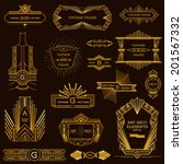 Art Deco Vintage Frames and Design Elements - in vector | Shutterstock vector #201567332