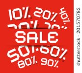 sale paper title   discount... | Shutterstock .eps vector #201570782