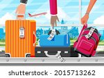 luggage carousel against in...   Shutterstock .eps vector #2015713262