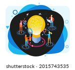 brainstorm. team in search of... | Shutterstock .eps vector #2015743535