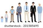different generation aging men... | Shutterstock .eps vector #201585695