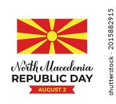 north macedonia republic day...   Shutterstock .eps vector #2015882915
