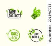organic labels. fresh eco...   Shutterstock .eps vector #2015967755