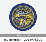 nebraska round circle flag. ne... | Shutterstock .eps vector #2015976902
