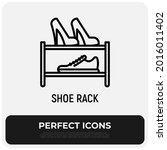 shoe rack thin line icon.... | Shutterstock .eps vector #2016011402