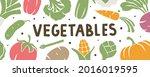 vegetable background. header or ...   Shutterstock .eps vector #2016019595
