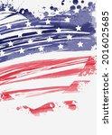 abstract grunge flag in heart...   Shutterstock . vector #2016025685