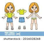 cartoon girl with bob hairstyle ... | Shutterstock .eps vector #2016028268