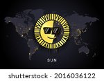 sun crypto currency digital... | Shutterstock .eps vector #2016036122