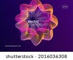 neon flyer. dynamic fluid shape ...   Shutterstock .eps vector #2016036308