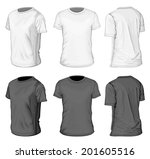men's white and black short... | Shutterstock .eps vector #201605516