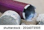 Closeup Of Wet Purple Core...