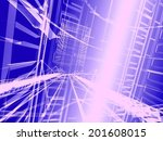 abstract modern architecture | Shutterstock . vector #201608015