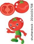 tomato. this is tomato fruit... | Shutterstock .eps vector #2016101708