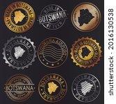 botswana business metal stamps. ... | Shutterstock .eps vector #2016130538