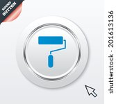 paint roller sign icon....