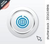 globe sign icon. round the...