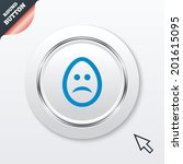 sad easter egg face sign icon....