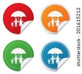 complete family insurance sign...   Shutterstock .eps vector #201615212