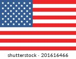 vector image of american flag  | Shutterstock .eps vector #201616466