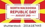 north macedonia republic day...   Shutterstock .eps vector #2016187445