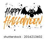 happy halloween  greeting with... | Shutterstock .eps vector #2016213602