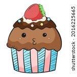 A Cute Cup Cake  Chocolate Cup...