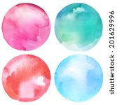 watercolor circles collection.... | Shutterstock . vector #201629996