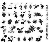 silhouette black and white... | Shutterstock .eps vector #201634565