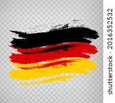 flag of germany  brush stroke...