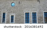 Facade Of An Old Building With...