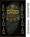 beer party menu vector...   Shutterstock .eps vector #2016390788