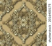 3d floral baroque old style... | Shutterstock .eps vector #2016400175