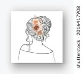 hand drawn bride with beautiful ... | Shutterstock .eps vector #2016417908