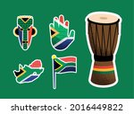 heritage day set five icons   Shutterstock .eps vector #2016449822