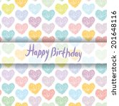 Happy Birthday Card. Pattern...