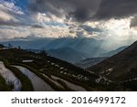 Rice Terraces In Yuan Yang With ...