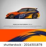 racing car wrap design vector... | Shutterstock .eps vector #2016501878