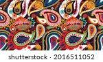 paisley turkish cucumber.... | Shutterstock .eps vector #2016511052