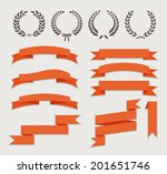 wreaths and ribbons for banner... | Shutterstock .eps vector #201651746