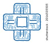 medical healing plaster sketch...   Shutterstock .eps vector #2016535505