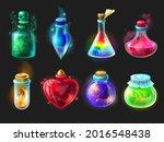 magic potion. cartoon game...   Shutterstock . vector #2016548438