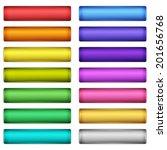 web buttons set   Shutterstock .eps vector #201656768
