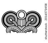 maori tattoo redrawn to vector.   Shutterstock .eps vector #2016573458