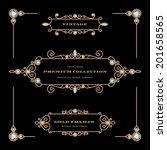 vintage gold jewelry vector...   Shutterstock .eps vector #201658565