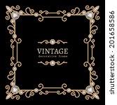 vintage gold background  vector ... | Shutterstock .eps vector #201658586