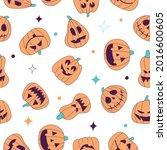 seamless pattern for halloween... | Shutterstock .eps vector #2016600605