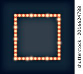 marquee lights in square frame... | Shutterstock . vector #2016624788