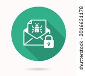 email virus threat icon. simple ... | Shutterstock .eps vector #2016631178