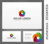 business card design and... | Shutterstock .eps vector #201664316